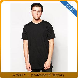 OEM Men′s 100% Cotton Black Short Sleeve T Shirt pictures & photos