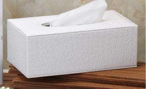 Wood Leather Tissue Box Facial Paper Tissue Box Car Tissue Tin Box (Hx01) pictures & photos