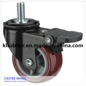 Hot Selling Good Quality Europe Model PU Caster Wheel pictures & photos
