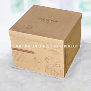 The Double-Layer Kraft Paper Birthday Cake Box of Baking Box Heightening High 25cm (LC15-825)