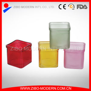 Promotional Beautiful Colored Candle Jars Glass pictures & photos