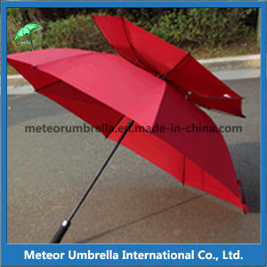 Promotion Quality Double Layer Vent Windproof Golf Umbrella