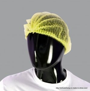 Disposable Nonwoven Bouffant Cap Nurse Cap Potective Wear pictures & photos