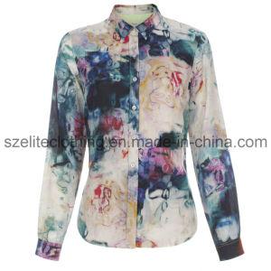 Wholesale Cheap Chiffon Blouse for Woman (ELTWDJ-5) pictures & photos