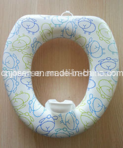 Cushioned Toilet Seat Without Handles with The Splash Guard pictures & photos