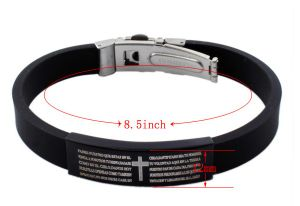 2016 Hot Selling Magnetic Stainless Steel Silicone Bracelet pictures & photos