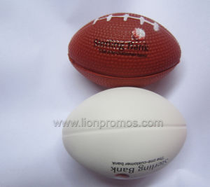 Bank Insurance Promotional Gift PU Rugby Ball Stress Reliever pictures & photos