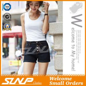 Girls Denim Mini Buttons Shorts
