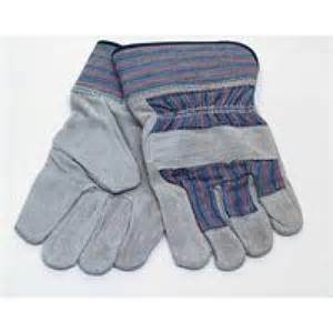 Classic Cow Split Leather Safety Working Gloves pictures & photos