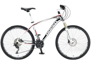 "New Popular Aluminum Mountain Bike, 26"" 30sp, White&Red"