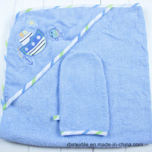 Popular Cotton Hooded Bath Towel and Wash Cloth Set pictures & photos