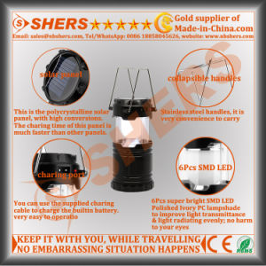 Telescopic Solar 6 SMD LED Camping Lantern USB Outlet Solar Powered pictures & photos