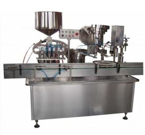 Automatic Sauce/Liquid/Wine Filling and Capping Machine Line pictures & photos