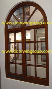 Saudi Arabia Solid Wood Alu Windows, Satisfying Double/Triple Glazing Tempered Glass Customized Beautifule Specialty Windows pictures & photos