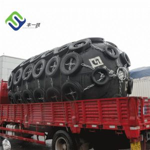 Florescence Floating Pneumatic Ship Fender with Tire Chain