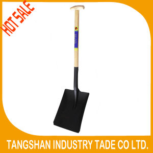 Hot Sale S519t Wood Handle Square Steel Shovel pictures & photos