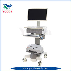 Hospital Workstation Cart with Drawers pictures & photos