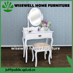 White Vanity Dressing Table with Mirror (W-LZ-130) pictures & photos
