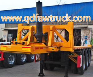 High Quality Tri-Axles Container Flatbed Trailer pictures & photos