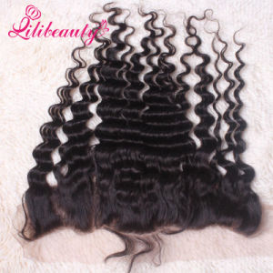 Human Hair Full Lace Closure Lace Frontal Deep Wave pictures & photos