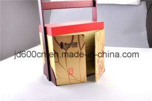 Wholesale OEM High Quality Special Shape Mooncake Packaging Box with Wooden Handle pictures & photos
