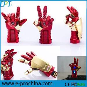 Cartoon Figure Avenger Ironman Hand LED USB Flash Drive pictures & photos