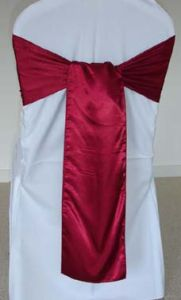 Wholesale Fancy Wine Color Cheap Wedding Glamour Satin Sash pictures & photos