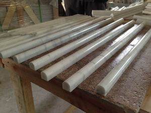 "Carrara Marble Pencil Liner Bullnose 3/4""X12"" Polished/Honed pictures & photos"