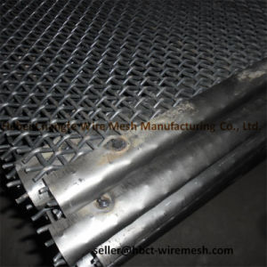 Black / Red High Tensile Strength and Toughness Crimped Wire Mesh pictures & photos