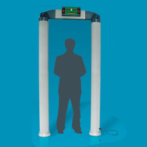 Cylindrical Column Door Type Body Scanner Metal Detector pictures & photos
