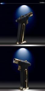 Cohiba Dedicated Cigarette Jet Torch Black Windproof Cigar Lighter (ES-CA-009) pictures & photos