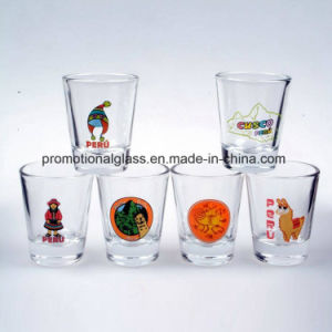 Laser Engraved Metallic Shot Glass City Logo Shot Glass pictures & photos