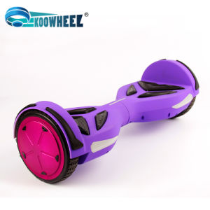 2 Wheel Electric Standing Scooter Hoverboard Roller Hover Standing Drift Board Electric Scooter with Bluetooth Music LED 6.5 Inch Samsung Battery pictures & photos