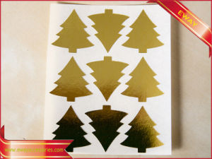 Waterproof Gold Vinyl Sticker Paper Printing Sticker pictures & photos