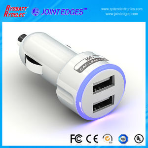 2A/1A Dual USB Battery Car Charger