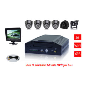 CE FCC RoHS H. 264 Mobile DVR, 8CH for School Bus with 7 Inch LCD School for Bus Security pictures & photos