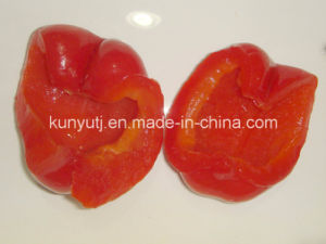 Sweet Red Pepper Halves in Glass Jar pictures & photos