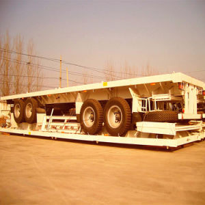 2 Axles 40ft and 20ft Container Flatbed Semi-Trailer pictures & photos