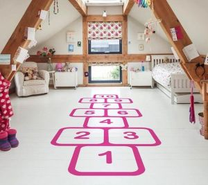 Custom Self Adhesive Hopscotch Floor Number Sticker for Children Room pictures & photos