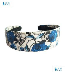 Blue Flowers Wide Women PU Headbands pictures & photos