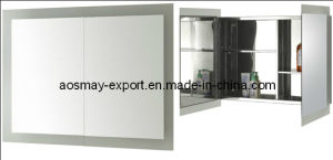 Stainless Steel Mirror Cabinet with One Door (ASM-380A)