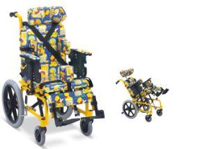 Aluminum Manual Folding Cp Wheelchair for Children and Adult pictures & photos