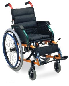 Lightweight Aluminum Wheelchair with Soft Seat (SC-AW26-35) pictures & photos