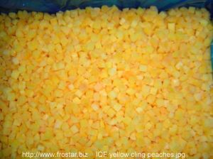 IQF Yellow Cling Peaches