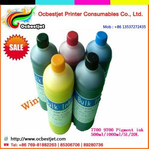 High Quality Pigment Ink for Epson Surecolor T3000 T5000 T7000 Refillable Ink Cartridge