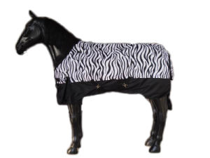 Waterproof and Breathable Zebra Print Horse Rugs (SMRK17) pictures & photos