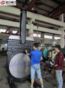 Wafer Type Knife Gate Valve with Bevel Gear pictures & photos