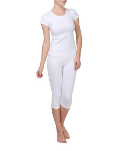 White Color Dry Fit Yoga Clothes Custom Yoga Pants pictures & photos