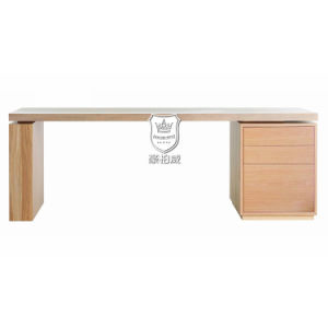 White Oak Floating Desktop 3 Drawers Writing Desk Designs pictures & photos