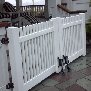 Modren Picket Fence Gate To Decor